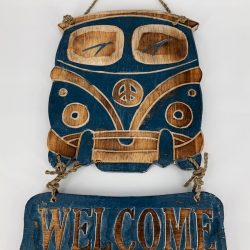 VW Bus Tekstbord Navy | WELCOME
