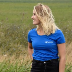Moana Six Tee Royal Blue (dames)