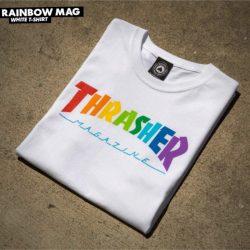 Thrasher Rainbow Magazine Shirt White