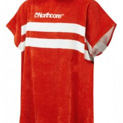 Poncho Northcore Red Stripes